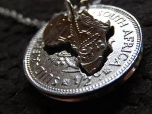 Unity is Strength – STERLING SILVER 1/2 Cent Double Africa Pendant