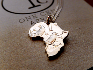 OneCentAfrica Pendant – Sterling Silver